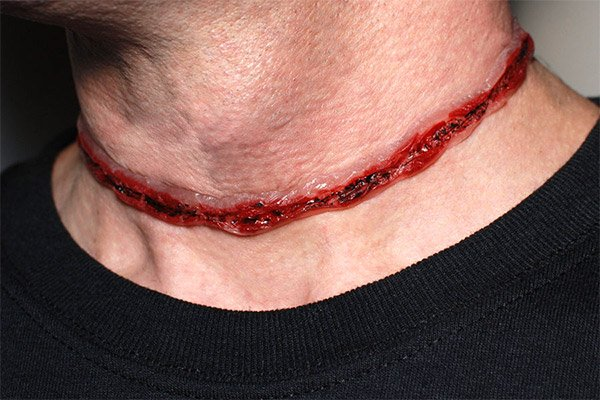 slit throat necklace