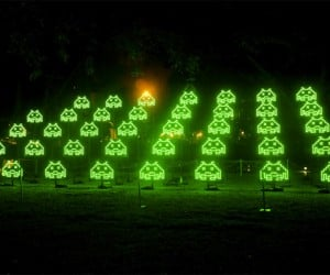 Space Invaders Light Installation is Exactly How I Picture the Invasion