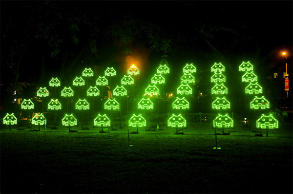 space invaders led