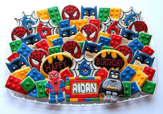 Spider man and batman lego cookies marvel and dc unite - Spiderman batman lego ...