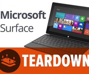 Microsoft Surface Tablet Gets Torn Down for Posterity
