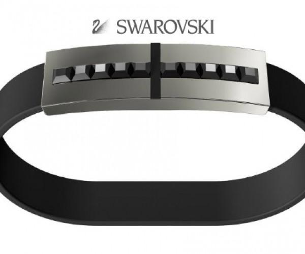 Men's Crystal Encrusted Bracelet Hides a Flash Drive