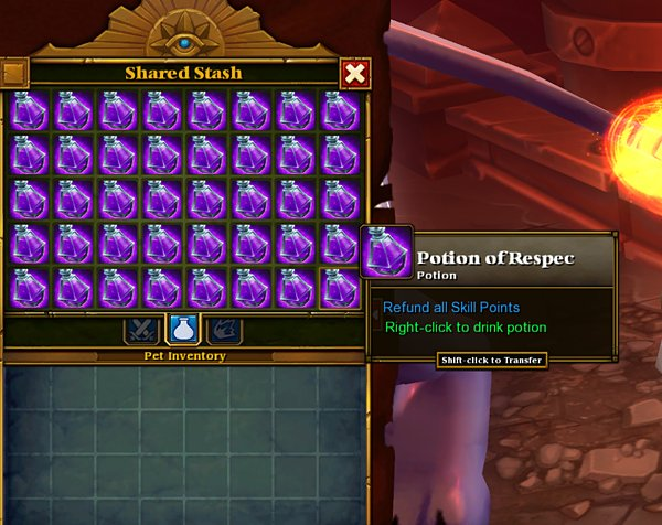 torchlight ii potion of respec hack