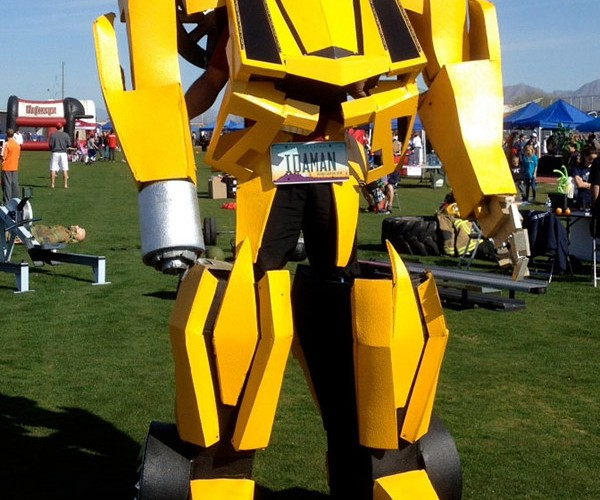 10-Foot-Tall, Flamethrowing Transformers Bumblebee Costume for Sale