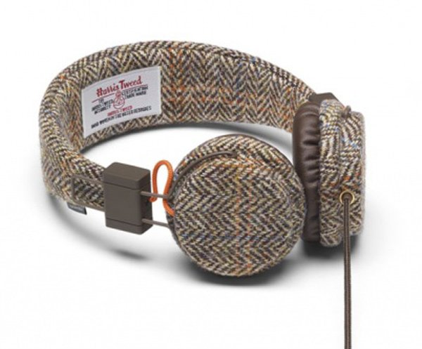 urbanears plattan headphones harris tweed front