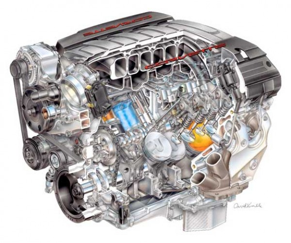 2014 Corvette LT1 V8 Engine Produces 450 HP and Gets 26 MPG