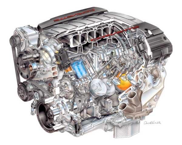 2014 Corvette LT1 V8 Engine Produces 450 HP and Gets 26 MPG