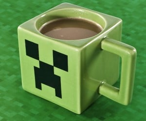 Creeper Coffee Mug Is Oddly Square and Oddly Satisfying
