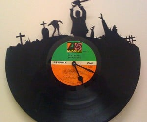 Vintage Record Zombie Clocks: Dawn of the Dead Vinyl