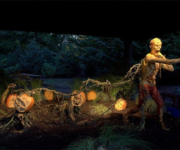 Amazing Zombie Pumpkin Display at The New York Botanical Garden