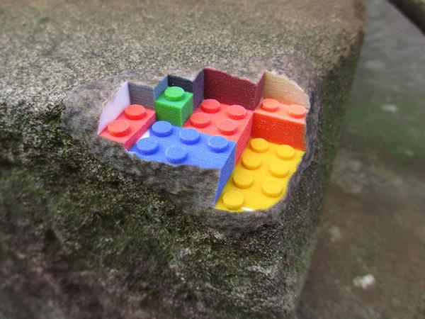 3d printed sandstone lego block by Greg Petchkovsky