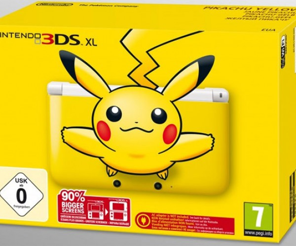 Pikachu Yellow Nintendo 3DS XL Hits Europe December 7