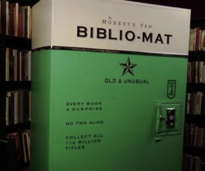Biblio-Mat Vending Machine Serves up Bookworms with Random Reads