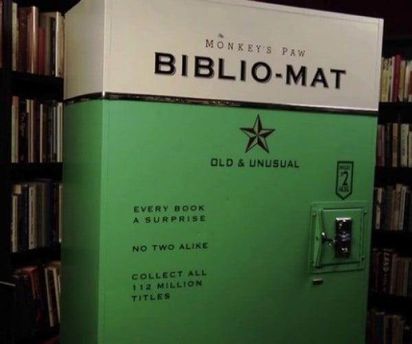 Biblio-Mat Vending Machine Serves up Bookworms with Random Reads