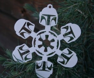 Boba Flake: Star Wars Laser-Cut Snowflake Ornaments