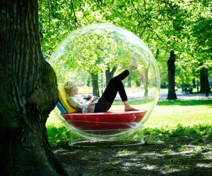 See-Through Cocoon Lets You Live in Your Own Little Bubble
