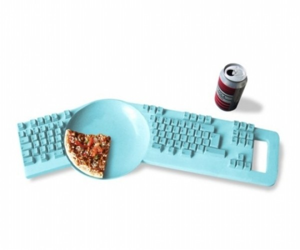 Chew on This: Keyboard With a Plate in the Middle