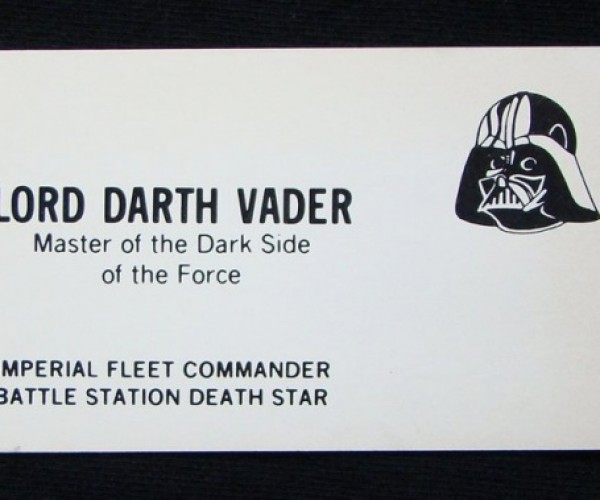 Impress Prospective Clients and Employers with Some Star Wars Business Cards