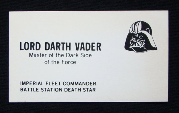 Impress prospective clients and employers with some star wars star wars business cards colourmoves