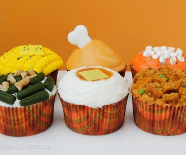 Thanksgiving Dinner in Cupcake Form: No More Undercooked Turkey!