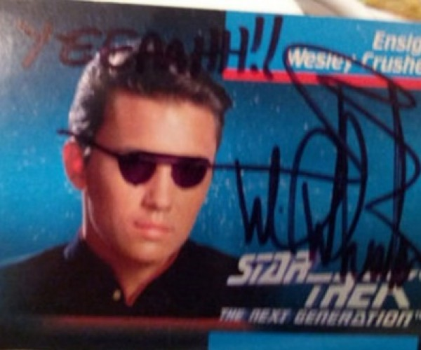 Wil Wheaton's Doodled-on Wesley Crusher Card up for Auction