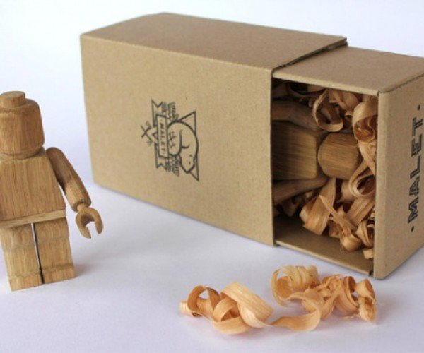 Wooden LEGO Minifigs: Because Plastic LEGO People Aren't Enough