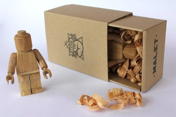 Wood Carved Lego