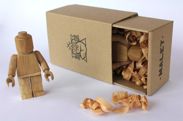 Wood-Carved Lego