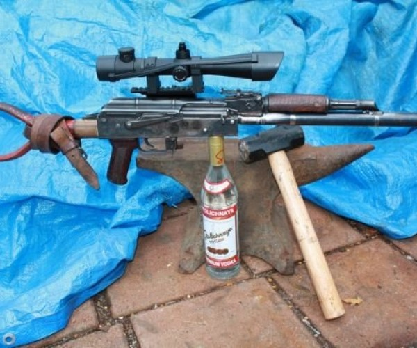 Guy Makes AK-47 from Old Shovel