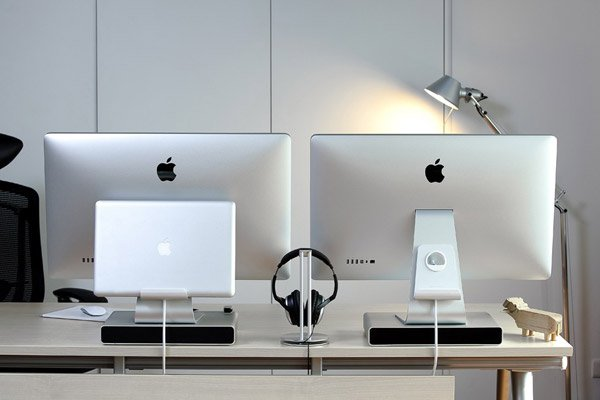 alurack stand mac imac cinema display on off