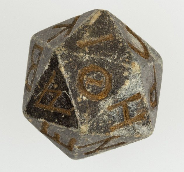 ancient d20 dice