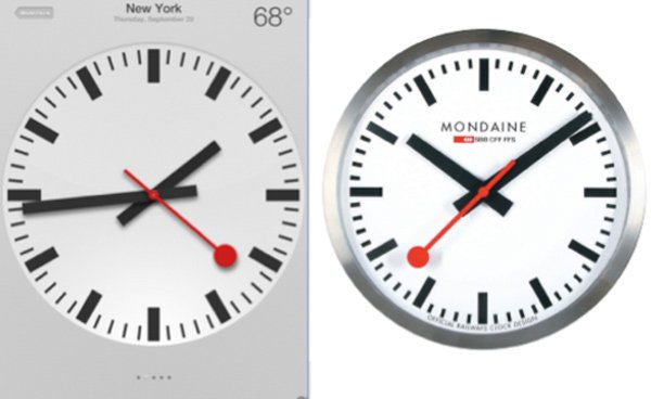 apple ios6 clock copy design swiss