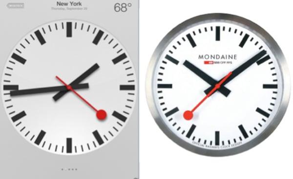 apple ios6 clock copy design swiss