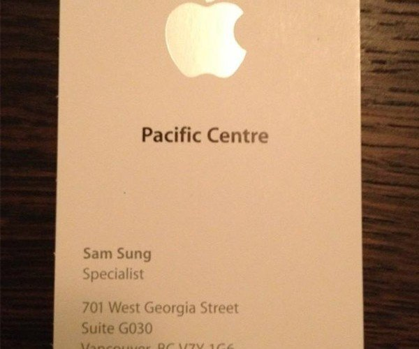 Worst Apple Employee Name Ever?