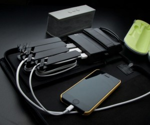 AViiQ Portable Charging Station: Never Lose Your Cables Again