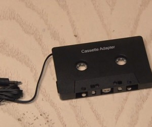 Cassette Adapter Bluetooth Hack: Cost Cutting Cutting Edge