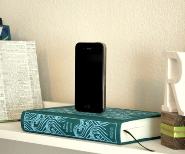 Booksi Recycled Book iPhone Docks: Don't Read While Docked