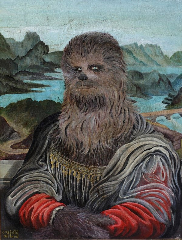 Chewbacca Mona Lisa Davinci Had His Arms Ripped Out Of