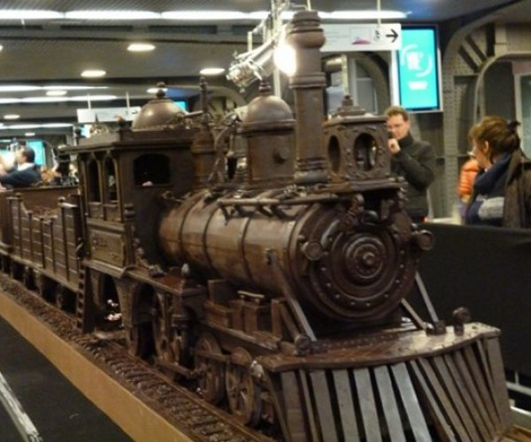111-Foot-Long Train Made of Chocolate: Choo-Choo… Chew!