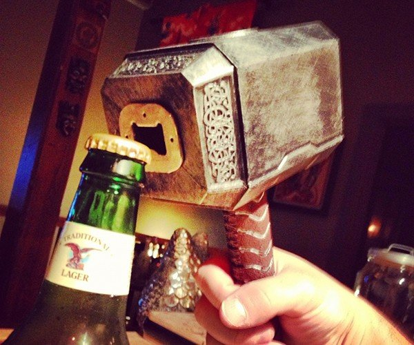 custom thor mjolnir bottle opener by anthony petrie