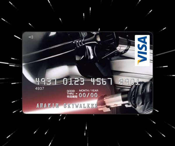 Darth Vader Credit Card: Don't Dare Pay It Late
