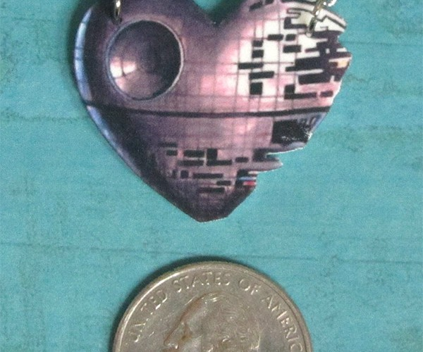 That's No Heart Necklace… It's a Death Star Necklace!