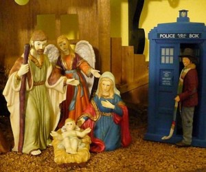 Doctor Who Drops in on Nativity Scene