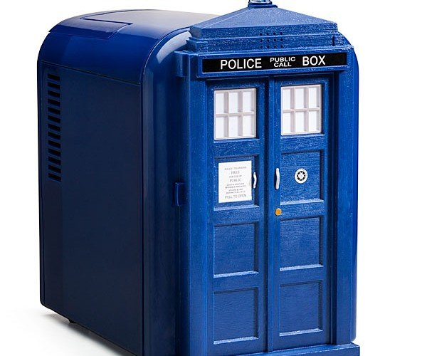 TARDIS Mini Fridge Does Seem Bigger on the Inside