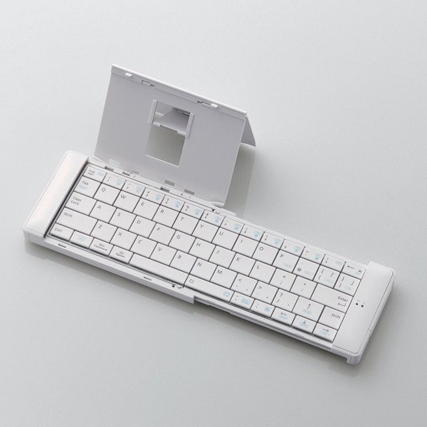 elecom collapsible keyboard bluetooth white