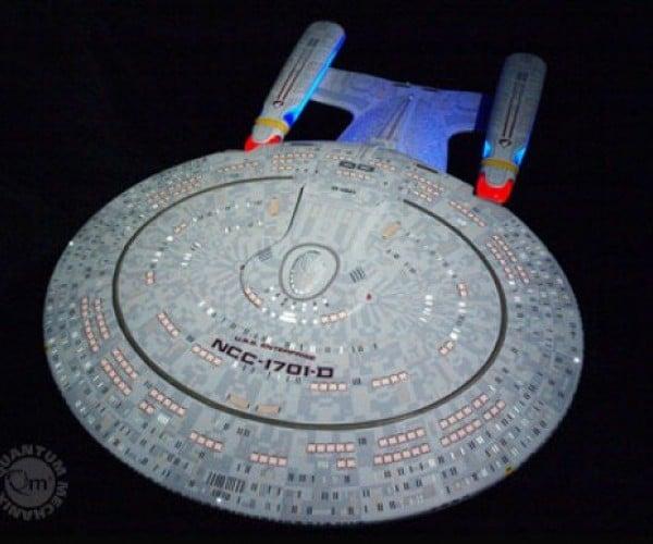 Perfect 1:850 Scale Star Trek TNG Enterprise Replica Will Cost You 9,995 Federation Credits