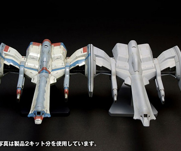 galaga fighter model kit by wave corp 7
