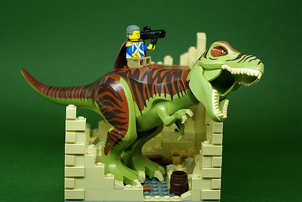 george washington on a t-rex by andrew becraft
