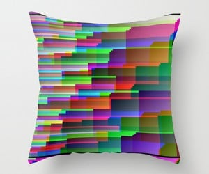 Glitch Throw Pillows: Don't Worry, Your Video Card is Fine