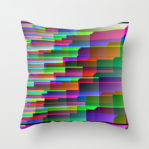 glitch throw pillows by benjamin berg